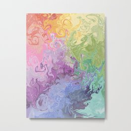 Colorful Rainbow Abstract Painting  Metal Print