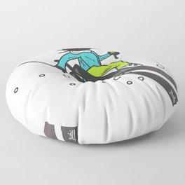 Ski action Floor Pillow