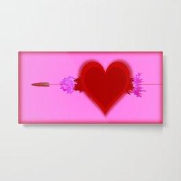 Heart Series Love Speeding bullets 2 Metal Print