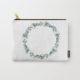 Cotton Eucalyptus Wreath Carry-All Pouch