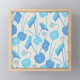 LOTUS POND Pattern Framed Mini Art Print