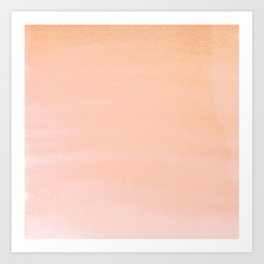 Hand painted coral pink watercolor paint Art Print