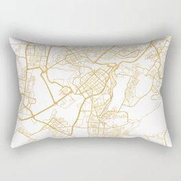 YEREVAN ARMENIA CITY STREET MAP ART Rectangular Pillow