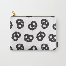 Postmodern Pretzels in Black + White Carry-All Pouch