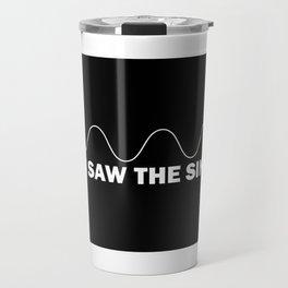 I Saw The Sin - Funny Mathematics Pun Gift Travel Mug