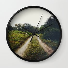 rainy road Wall Clock