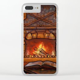 Fireplace (Winter Warming Image) Clear iPhone Case