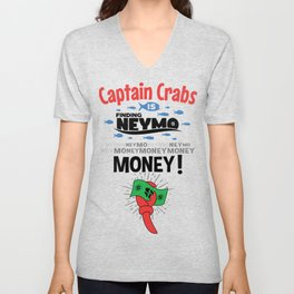 Captain Crabs is finding Neymo Unisex V-Neck