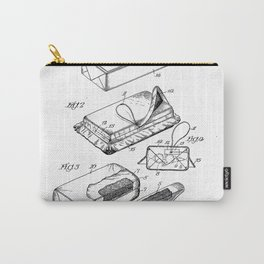 First Aid Packet Vintage Patent Hand Drawing Carry-All Pouch