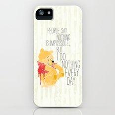 I do nothing every day iPhone SE Slim Case