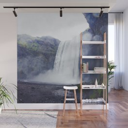 Standing at a Waterfall in Iceland Wall Mural