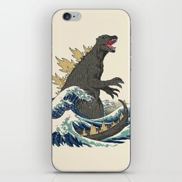 The Great Monster Off Kanagawa iPhone Skin