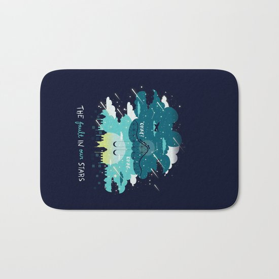 Stars and Constellations Bath Mat
