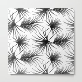 Funny palm branches pattern Metal Print