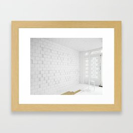 and now? Framed Art Print