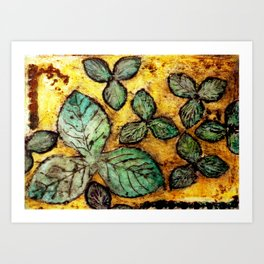 Leafy Summer Days Art Print