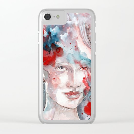 Changes, mixed media artwork Clear iPhone Case