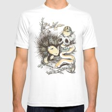 Haunters of the Waterless White SMALL Mens Fitted Tee