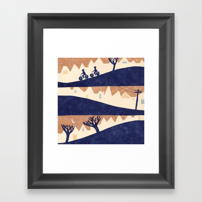 Lovely Hills of San Francisco Framed Art Print
