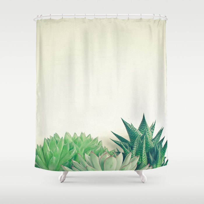 Succulent Forest Shower Curtain