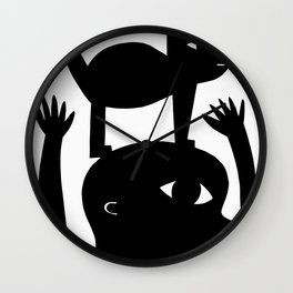 Cat On My Head Wall Clock