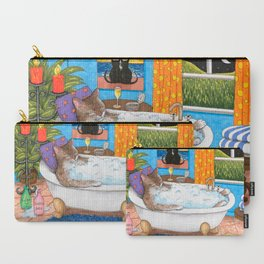 Cat in bath Carry-All Pouch