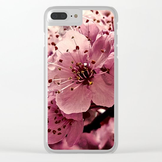 Spring Pink Plum Blossoms Clear iPhone Case