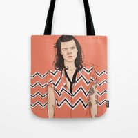 coconutwishes Tote Bags featuring Harry Chevron  by Coconut Wishes