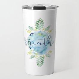 Breathe - Watercolor Travel Mug