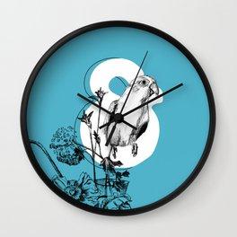 Ampersand Takes Flight Wall Clock