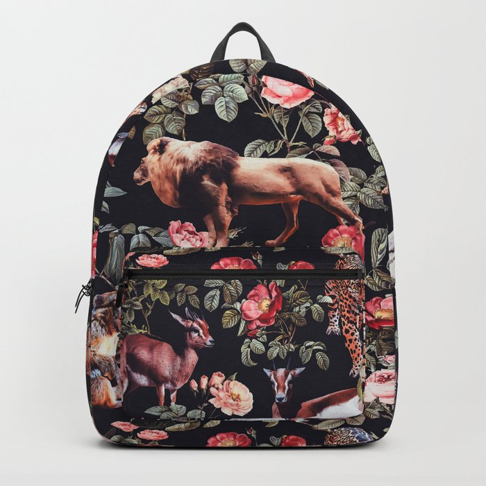 Animals and Floral Pattern Rucksack