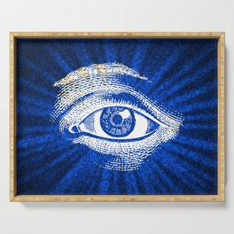 Shining Eye Retro Pattern Serving Tray