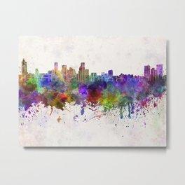 Baltimore skyline in watercolor background Metal Print
