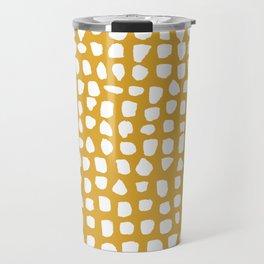 Dots / Mustard Travel Mug