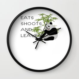 Eats, Shoots and Leaves Wall Clock