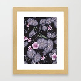Black Indian cress garden. Framed Art Print