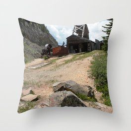 Climbing Up to the Longfellow Mine at 11,080 Feet Throw Pillow