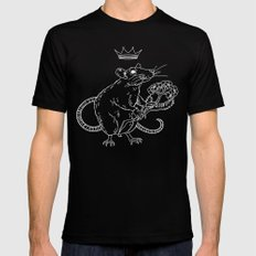 Rat King (white) MEDIUM Mens Fitted Tee Black