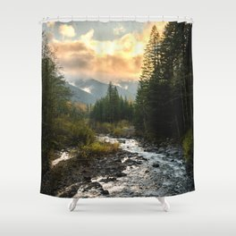 The Sandy River I - nature photography Shower Curtain