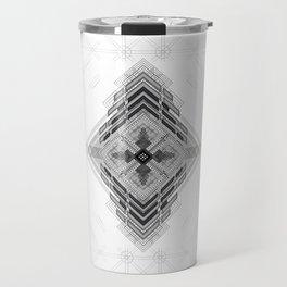 Vigorous and bold fractal geometric shapes with compass symbol Travel Mug