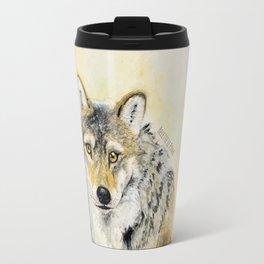 Totem Wolf: Gray wolf (c) 2017 Travel Mug
