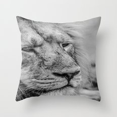 Face Of Thought Throw Pillow