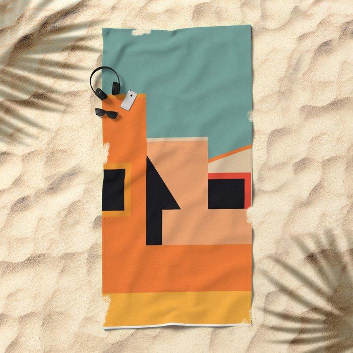 Summer Urban Landscape Beach Towel