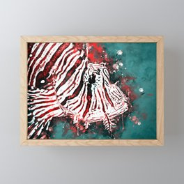 poisonous exotic lionfish ws2s Framed Mini Art Print
