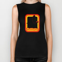 Retro Sasquatch Washington Biker Tank