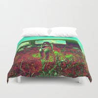 hippie Duvet Covers featuring GLITCH hippie by ☆☆♞☆☆