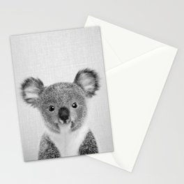 Baby Koala - Black & White Stationery Cards