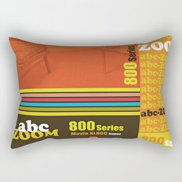 Homage to home movies in red Rectangular Pillow