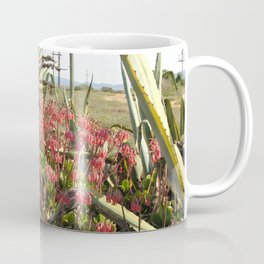 Wild Succulent Plant Aloe Flowers Countryside, South Africa Coffee Mug