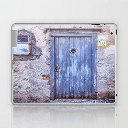 Old Blue Italian Door Laptop & iPad Skin